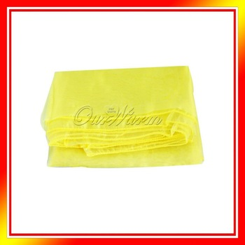 "Yellow Organza Table Overlay Cloth 72"" Square Wedding Party Supply Colors New"