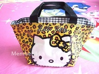 Pretty Hello kitty Leopard Stripes lunch bag Handbag