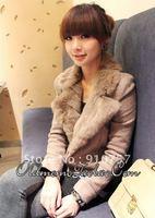 2012 autumn and winter new Women Korean version Frock fur collar zipper wool short paragraph Slim Blazer