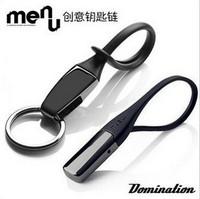 Free shipping 2pcs/lot  Fashion Danish Menu black titanium keychain for AUDI volkswagen  lovers design