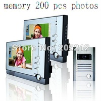 Free shipping Guaranteed 100% 7 inch wired color video door phone 1 to 2, with function of taking pictures
