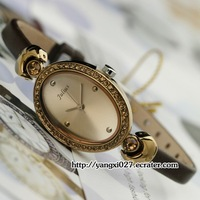 Julius Quartz  women Watch Fashion brown Leather Band Japan Movement  R45