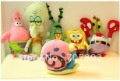 Promotions!!Wholesale19-32CM soft toys spongebob Patrick Star Squidward Tentacles toys with Sucker gifts kid toys 6pc/lot=$26.98