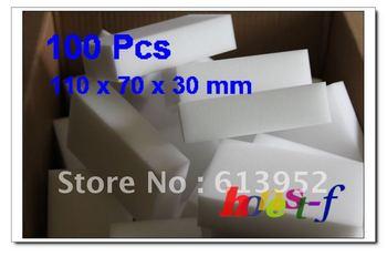 Free Shipping 100Pcs BIG MAGIC SPONGE ERASER CLEANING MELAMINE FOAM CLEANER 110 X 70 X 30MM