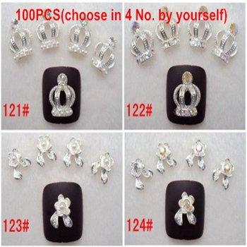 Freeshipping-100pcs nail Metal Sticker Nail Art Decals Metallic Stickers Fashion Acrylic Nail Art Decoration