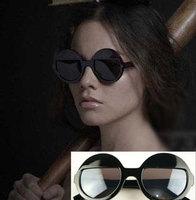 Free shipping Lady gaga unique vintage round box sunglasses a410 5pcs/lot