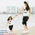 2013 Love lulu's store Good quality Family fashion summer family set clothes mother father daughter son smile happy family suit