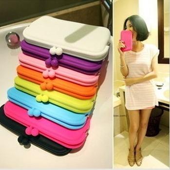 A M@ll Beauty! 7998 candy Large silica gel bag silica gel purse mobile phone bag jelly qq sugar clip *MJ-ZGLX
