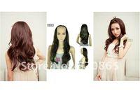 New moss is half put wig girl half head wig ringlet big wave wig summer air