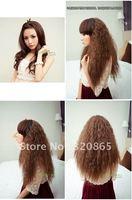 Moss is half put wig long roll fleeciness fashion female heavy heavy fleeciness lifelike half head wig set
