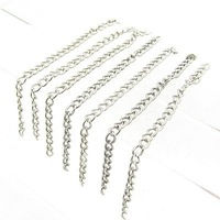 6cm Rhodium Plated Iron Link Chains necklace for jewelry HA982 100pcs/lot Free shipping