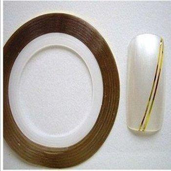 15pcs Gold Color + 15 pcs Silver Color  Striping Tape Metallic Yarn Line Nail Art Decoration Sticker + Free Shipping