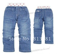 Free shipping !2012 new!The baby pants, upset warm children jeans. Children's clothing, children's trousers (90-130CM 5 PCS/Lot)