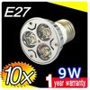 On sales 10pcs DHL FREE E27 E26 9W CREE LED SpotLight Bulbs Lamp Warm white 85-265V downlights 3X3W