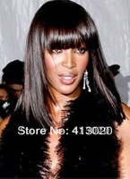 Peruvian hair, straight, best quality,human hair wig, color #1b,#1,#2,#4,free shipping,lace front wig