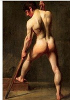 """Charming Hand Oil painting art"""" male nude""""on canvas 100% Free shipping55"""
