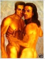 Charming nude Oil on canvas numbered Giclee Painting: Gay Interest 24x36 100% Free shipping h-5433