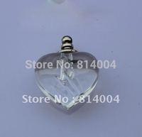 Free Shipping!!!100pcs NEW! 100pcs mixed color heart vial pendant fit neckalce