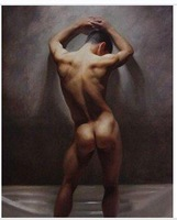 """Charming Hand Oil painting art"""" male nude""""on canvas 100% Free shippingh-0085"""
