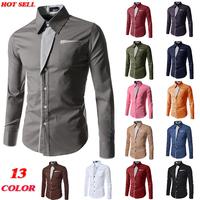 Free shipping New Designer Fashion Luxury Slim Fit Dress Men's Shirts 8012