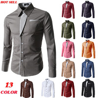 Free shipping New Designer Fashion Luxury Slim Fit Dress Men's Shirts A20