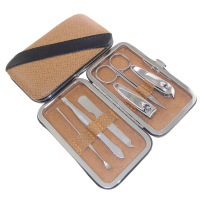 Nail clipper khaki nail clipper set gift hot-selling 6 piece set carbon steel k601