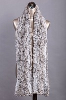 Wholesale-free shipping -fashion chinchilla fur scarf, natural colour lady long scarves ,top quality