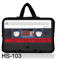 "NEW Retro tape  9.7"" 10"" 10.1"" 10.2 inch Laptop Notebook Bag Carrying Tablet PC Sleeve Case Cover pouch with Hide Handle"