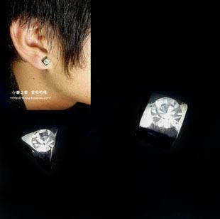 Free Shipping Mix Order $10 Min C49 magnet stud earring no pierced magnetic magnet stud earring
