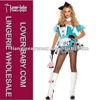 Free shipping +Quality Dot Mini Dress Sexy Alice Custume Halloween Costume