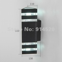 free shipping whole sale price  up&down  aluminum outdoor wall light waterproof lighting garden light wall lamp
