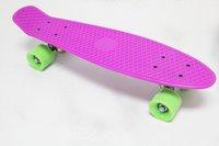 "free shipping 22"" Penny Original Plastic Skateboard Banana Cruiser Board Purple Complete skateboard"