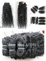 "New arrival,deep wave Jerry Curly 16""-28"" 5 pcs, ,virgin Brazilian hair extension HWT002  16/ 18 /20 /28/ 24/ 26/ 22/ 5Pieces"