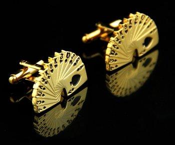 CSS012D 21mm New Fancy Gold Black CUFFLINKS Cuff Links for shirt