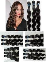100% Brazilian Virgin Hair Weft Hair Weave Remy Human Extensions 100g/pc HWT401  12/ 14 /16 /18/ 28/ 22/ 24 /4 Pieces