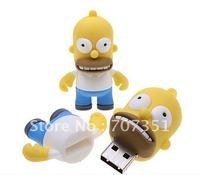 Free Shipping! The Simpsons Homer Simpson Shaped 4G 8G 16G 32G U Disk 8GB USB Flash Drive Memory