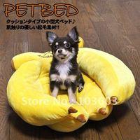 Japan Doug pet yellow bananas bed, mini kennel, cute cat litter, dog bed, pet nest, Teddy sofa, 40CM  Free Shipping