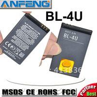 Genuine 1300mAh BL-4U BL4U Battery For Nokia C5-03/3120c/5330XM/5530XM/5730XM/6212c/6600s AKKU baterai free shipping 2pcs/lot
