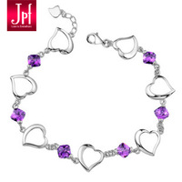 2014 New Hot Sale Freeshipping Women Insect Trendy Acrylic Jpf Amethyst 925 Pure Bracelet Female Accessories Noble Discoloration
