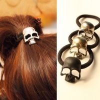 (Min order USD$15!) Metal headband vintage punk three-dimensional skull hair rope tousheng hair accessory FREE SHIPPING
