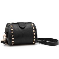 Women vintage shoulder/crossbody small mini studded/rivet mobile camera wristlet bag,Stylish Fashion,female/lady promotion item