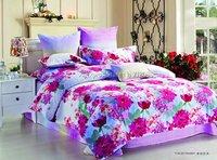 hot sale bright color red floral full/queen/king reactive sanding bedding 4pcs comforter quilt/duvet covers sets