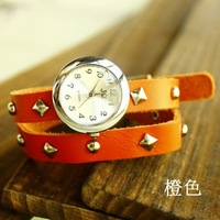 Наручные часы Sale Unisex Fashion watch Genuine Cow Leather bracelet watch Korea Quartz Wrist Watch women men KOW003