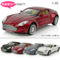 Toy car aston martin one77 alloy car models toy acoustooptical WARRIOR open the door