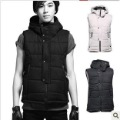 Free shipping 2012 autumn winters is fashionable man cotton vest leisure fashion hooded vest down vest