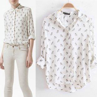 Zara Owl Print Blouse 20