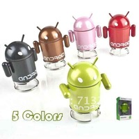 Free shipping,Mini Portable USB Google Android Robot Music Speaker MP4 TF Card Tablet PC Latop