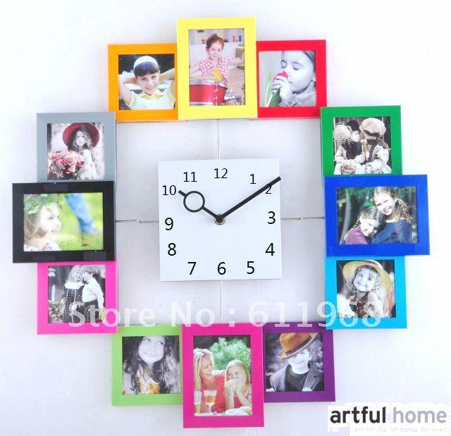 Как сделать часы с фотографиями