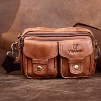 genuine leather casual sport fashion vintage cowhide waist packs,high quality leather waist bag ,YG030