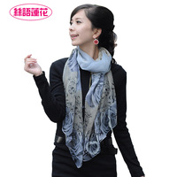2012 Free Shipping! Autumn and winter women's silk mulberry silk long design scarf